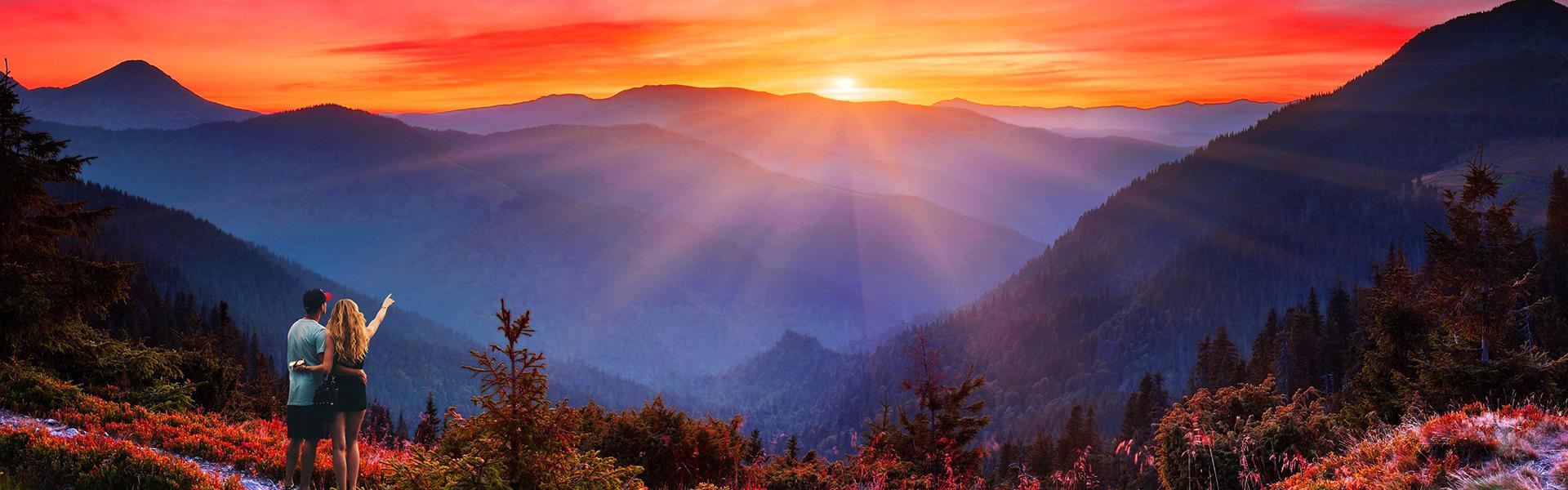 Mountain Sunset Wide